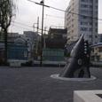 鯨塚の公園のオブジェ